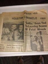 """Houston Chronicle July 25, 1969 Apollo Crewmen Found Free Of """"Moon Germs"""""""