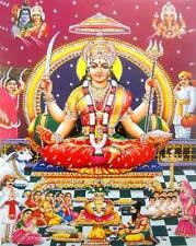 """Santoshi Mata/ Goddess Durga : Hindu God Poster with Glitter: Size-9""""x11"""" (756)"""