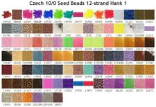 Czech 10/0 Rocaille Glass Seed Beads 12-strand Hanks 1 Preciosa