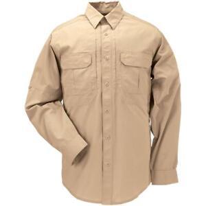 NWOT 5.11 Tactical TacLite Pro Long Sleeve Shirt Style 72175 Khaki Size 2XL