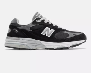 New Balance Men's Made in US 993 Black with grey Free Shipping