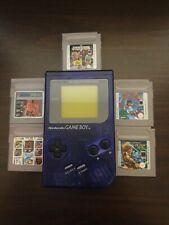 Nintendo Game Boy Transparent Lila Handheld-Spielkonsole+5 Spiele