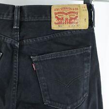 Mens Levis 501 Black Jeans Button Fly 32x32 Actual 31x31