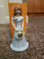 New Vintage 1982 Growing Up Birthday Girls 14 Enesco with Box Excellent Brunette
