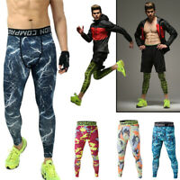 Men Thermal Compression Tight Base Layer Long Pants Leggings Gym Sport Trousers