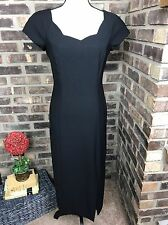 Virgo Petite Womens size 6 Black Maxi Dress Vintage  EUC!