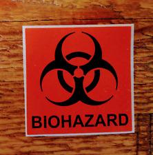 BIOHAZARD Warning Labels Self Adhesive Stickers (x10) - Halloween, Prank!!