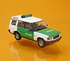 Busch 51911 Land Rover Discovery II Polizei weiß grün Scale 1 87 NEU OVP