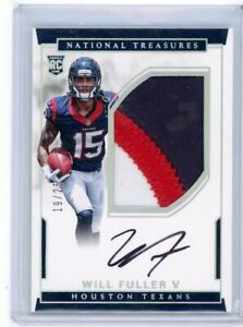 2016 National Treasures Will Fuller V Rookie Patch Auto RPA /25 Texans #106 RARE
