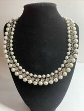 And Rhinestone Necklace Avon Marked Pearl