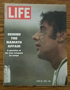 June 20, 1969 Life Magazine Joe Namath New York Jets
