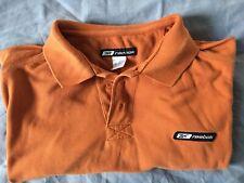 Men's REEBOK size XL faded orange pure cotton short-sleeve polo shirt