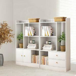 Home Office Storage Cabinet Display Bookcase Bookshelf Shelving Corner Furniture