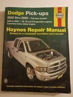 Haynes Automotive Repair Manual Dodge Pick-Ups 2002-2005 Full Size Models