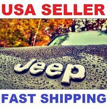 New 3D 【 Jeep 】 Chrome Metal Emblem Silver letters Logo Fits 1980-2017 & MORE