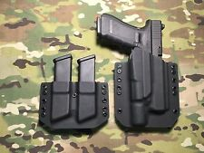Black Kydex Holster for Glock 17 22 31 Surefire X300 Ultra A w/Dual Mag Carrier
