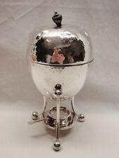Antique Silver Plate Egg Coddler Victorian 1890s Hand Hammered English Complete