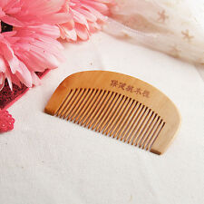 Natural Wide Tooth Peach Wood No-static Massage Hair Mahogany Comb NEW Z1V4
