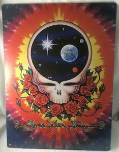 Grateful Dead SPACE YOUR FACE Vintage Poster Metal Sign