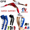 Sports Leg Guard Calf Support Knee Stretch Sleeve Compression Socks Running SFC