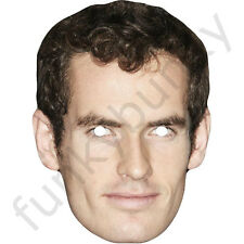 11 Different TENNIS PLAYERS Celebrity Card Masks Pre-Cut - Elastic & Sticky Tabs