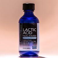 2 oz LACTIC Acid Skin Peel- 25% - For: Acne, Scars, Wrinkles, Melasma, Age Spots