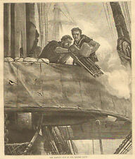 British Navy, Gatling Gun, Military Weapon, Vintage, 1878 Antique Art Print,