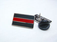 THIN RED LINE MERIT FIREMAN FIREMEN FIREFIGHTER MOURNING BAND ENAMEL PIN BADGE