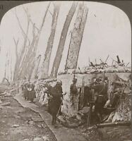 King Albert's soldiers defend the line at Yser against the Hun - WW1 Stereoview