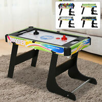 Table Top Air Hockey Game Table Pushers Wood Effect Surround /& Plastic Edging