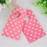 Pink Mini Plastic Gifts Bag Christmas Birthday Tools Jewelry Packaging Bag 50pcs