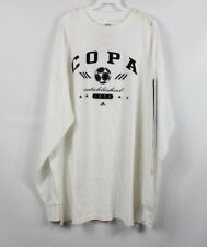 Vintage 90s ADIDAS New Deadstock Mens XXL Copa Spell Out Long Sleeve T Shirt