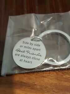 Round Tag best friends Metal Keyring  NEW SEALED