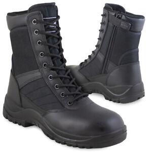 MAGNUM CENTURION 8.0 SZ BOOTS Side-Zip Police Security Tactical Cadet Work Black