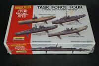 Vintage Lindberg Task Force Four 1:535 to 1:1550 Scale Model Kit
