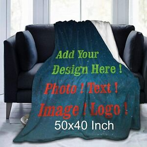 Custom Blanket Personalized Blanket from Photo Text for Birthday Wedding Gift