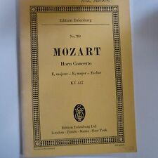 mini - pocket score MOZART Horn Concerto E flat major KV 447, eulenburg 789