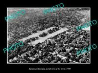 OLD POSTCARD SIZE PHOTO SAVANNAH GEORGIA AERIAL VIEW OF THE TOWN c1940