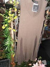 JOIN CLOTHES Sleeveless Tunic Top with Luxe Godets Mocha size Small BNWT