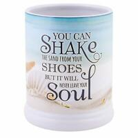 Shake the Sand from Shoes Beach and Ocean Stoneware Electric Jar Candle Warmer