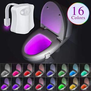 16-Colour Motion Sensor LED Toilet Night Light, 5-Stage Dimmer, Great For Kids!