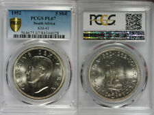 1952 South Africa 5 Shilling PCGS PL67