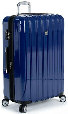 "Delsey Luggage Helium Aero 29"" Expandable Spinner Trolley Suitcase - Blue"