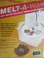 Melt-A-Way Hot Water Soluble Embroidery Fabric 18x44 Inches- Glissen Gloss/Madei