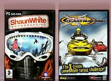 SHAUN WHITE SNOWBOARDING & SKIDOO TEAM RACING. 2 GREAT SNOW THEMED GAMES FOR PC!