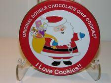 Original Gourmet I Love Cookies Double Chocolate Chip Cookies Santa & Sack Tin