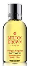 Molton Brown ORANGE & BERGAMOT Shower Gel BODY WASH 50ml TRAVEL SIZE