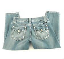 Miss Me Light Highland O2 Distressed Capri Jeans Style JP4350A Womens 28x21
