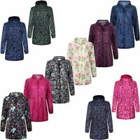 WOMENS LADIES RAIN COAT LIGHT SHOWER PROOF FISHTAIL PARKA CAGOULE HOODED JACKET