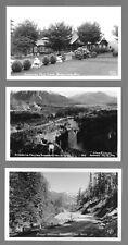 5 POSTCARDS FROM SNOQUALAMIE WASHINGTON Falls, Sunset Highway, Mt Snoqualamie